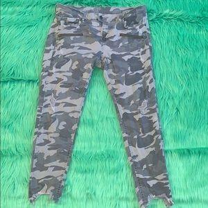 ZARA Ash Camo Cropped Jeans